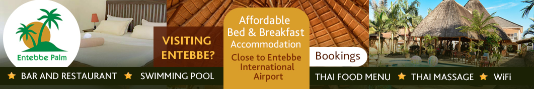 Visit the Entebbe Palm hotel - bed and breakfast accommodation